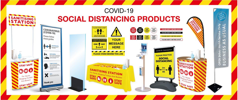 social distancing signs, social distancing posters